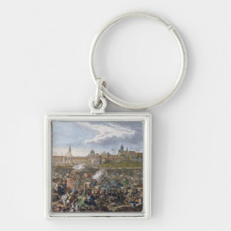 Battle of Leipzig, 19th October 1813 Silver-Colored Square Keychain