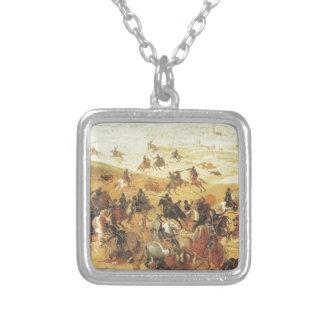 Battle of Lekkerbeetje, Vughterheide (Netherlands) Square Pendant Necklace