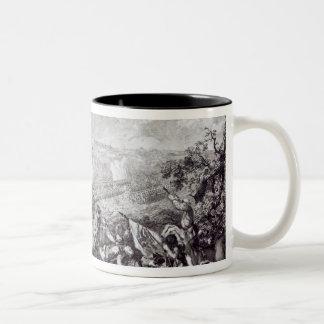 Battle of Lobositz, 1st October 1756 Two-Tone Coffee Mug
