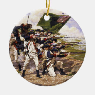 Battle of Long Island by Domenick D'Andrea Ceramic Ornament