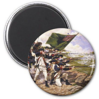 Battle of Long Island by Domenick D'Andrea Fridge Magnets