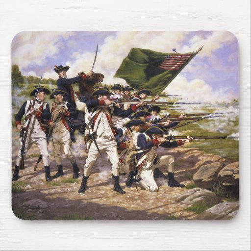 Battle of Long Island by Domenick D'Andrea Mouse Pad