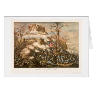 Battle of Lookout Mountain by Kurz & Allison 1863 Card