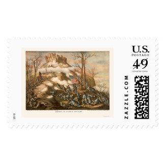 Battle of Lookout Mountain by Kurz & Allison 1863 Postage