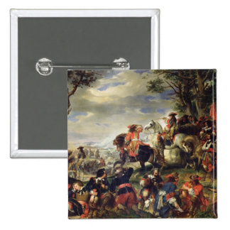 Battle of Marseilles, 4th October 1693, 1837 2 Inch Square Button