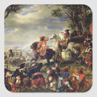 Battle of Marseilles, 4th October 1693, 1837 Square Sticker