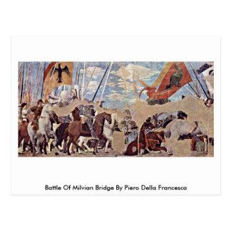 Battle Of Milvian Bridge By Piero Della Francesca Postcard