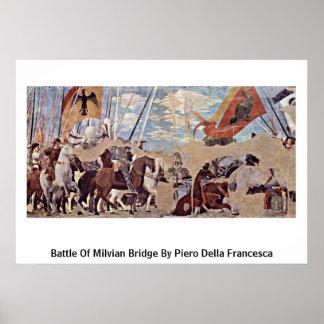 Battle Of Milvian Bridge By Piero Della Francesca Posters