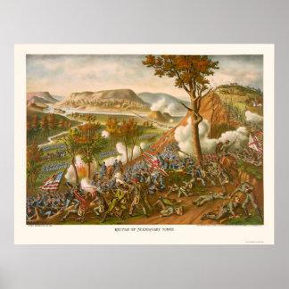 Battle of Missionary Ridge by Kurz & Allison 1863 Posters