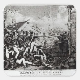 Battle of Monterey Square Sticker