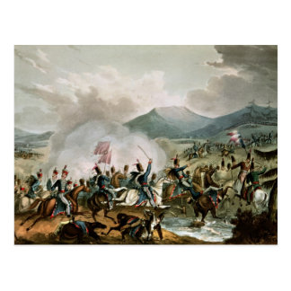Battle of Morales,engraved by Thomas Sutherland Postcard
