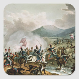 Battle of Morales,engraved by Thomas Sutherland Square Sticker
