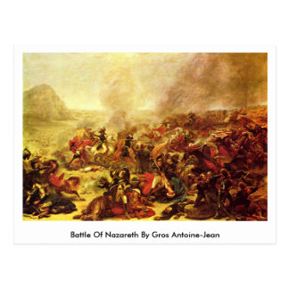 Battle Of Nazareth By Gros Antoine-Jean Postcard