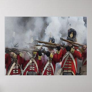 Battle of New Orleans, British Line Print