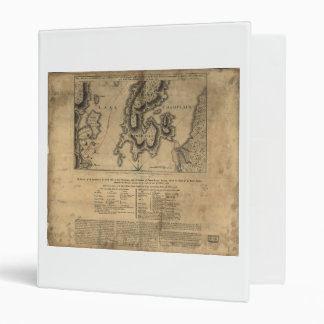 Battle of New York Map October 11th 1776 3 Ring Binder