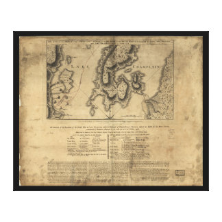 Battle of New York Map October 11th 1776 Canvas Print