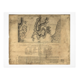 Battle of New York Map October 11th 1776 Letterhead