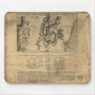 Battle of New York Map October 11th 1776 Mouse Pad