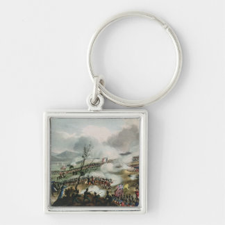 Battle of Nivelle,engraved by Thomas Silver-Colored Square Keychain