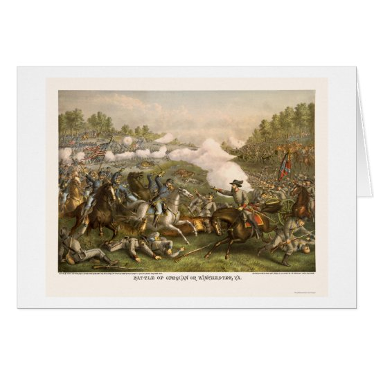 Battle of Opequan by Kurz and Allison 1864 Card