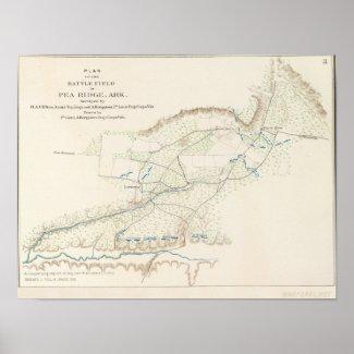 Battle of Pea Ridge Poster