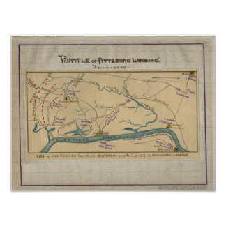 Battle of Pittsburg Landing. Tennessee. Posters