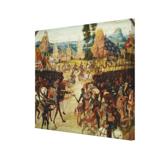 Battle of Poitiers, from Froissart's Chronicle Canvas Print