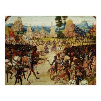 Battle of Poitiers, from Froissart's Chronicle Postcard