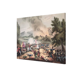 Battle of Pombal, engraved by Thomas Sutherland Canvas Print