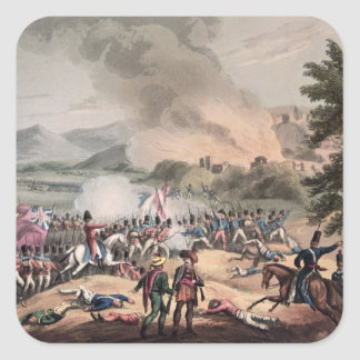 Battle of Pombal, engraved by Thomas Sutherland Square Sticker