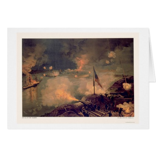 Battle of Port Hudson by L. Prang & Company 1887 Greeting Cards