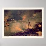 Battle of Port Hudson by L. Prang & Company 1887 Poster