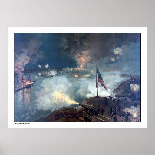 Battle of Port Hudson -- Civil War Print