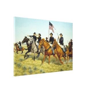 Battle of Prairie Dog Creek by Ralph Heinz Canvas Print