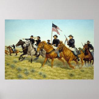 Battle of Prairie Dog Creek by Ralph Heinz Poster