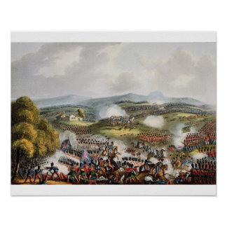Battle of Quatre Bras, June 16th 1815, from 'The M Print