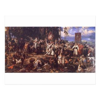 Battle of Raclawice by Jan Matejko Postcard