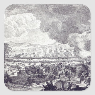 Battle of Rossbach, November 5th 1757 Square Sticker