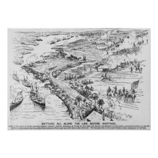 Battle of Santiago Poster
