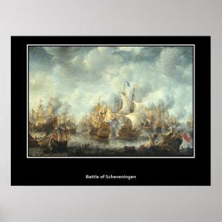 Battle of Scheveningen 1653 Vintage Poster