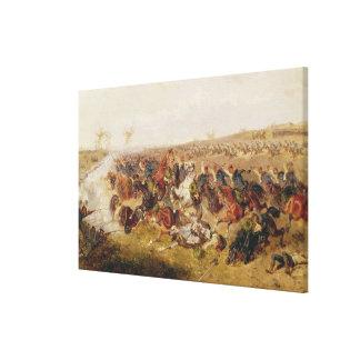 Battle of Schweinschaedel, 29th July 1866 Canvas Print