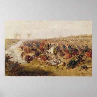 Battle of Schweinschaedel, 29th July 1866 Poster