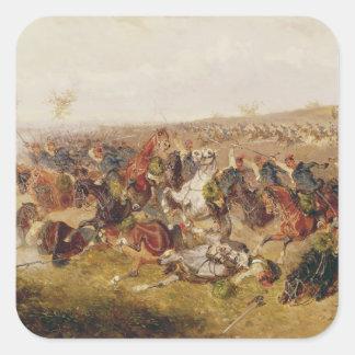 Battle of Schweinschaedel, 29th July 1866 Square Sticker