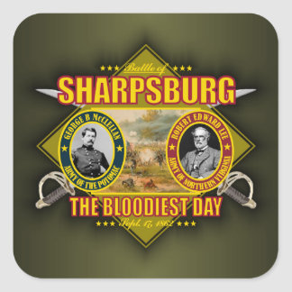 Battle of Sharpsburg (Antietam) Square Stickers