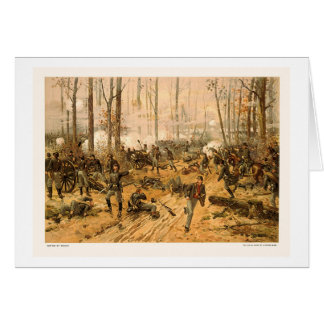 Battle of Shiloh by Thure de Thulstrup 1888 Greeting Card