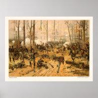 Battle of Shiloh by Thure de Thulstrup 1888 Poster