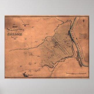 Battle of Shiloh - Civil War Panoramic Map 2 Posters