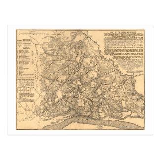 Battle of Shiloh - Civil War Panoramic Map 3 Postcard