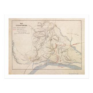 Battle of Shiloh - Civil War Panoramic Map 4 Postcard
