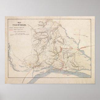 Battle of Shiloh - Civil War Panoramic Map 4 Print